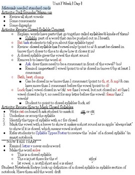 No More Reading MalFUNctions Outline: Level 3 Unit 1 (Week 1 & 2)