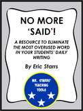 No More 'Said': Providing Alternative Verbs for Your Students' Writing