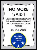 No More 'Said': Providing Alternative Verbs for Your Stude