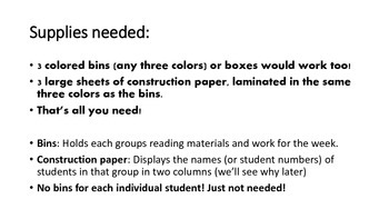 Guided & Differentiated Reading Made Simple!