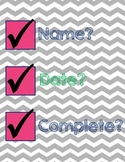 No Name, Date, Complete Reminder - Chevron