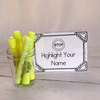 No Name?! : Easy way to keep track of student work!