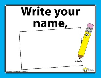 No Name, No Fame! Before You Start Visual Checklist Elementary Art Reources