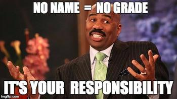 No Name = No Grade