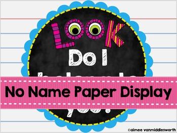 No Name Paper Display