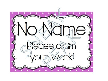 No Name Poster (polka dot)