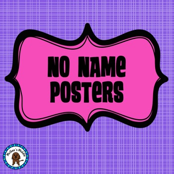 No Name Posters