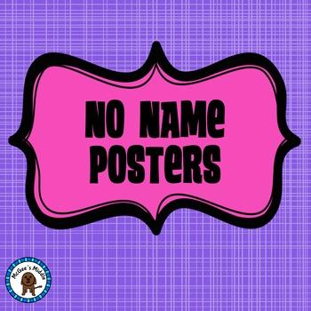 No Name Posters