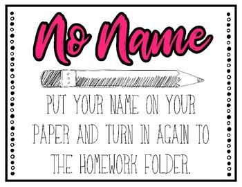 No Name Work Display - *FREEBIE*