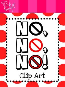 No, No, No! Clip Art FREEBIE
