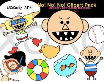 No!  No!  No! Clipart Pack