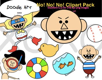 No!  No!  No! Clipart Pack