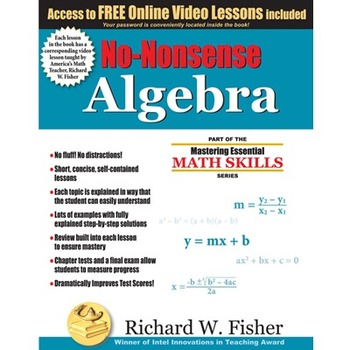 No Nonsense Algebra **FREE ONLINE VIDEO TUTORIALS**