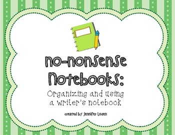 No-Nonsense Notebooks:  Building and Using a Writer's Notebook