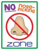 No Nose-Picking Zone! {Free Poster}