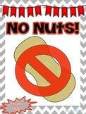 """FREE """"No Nuts"""" Allergy Signs"""