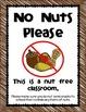 No Nuts Please - Classroom Sign {freebie}