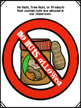Nut Allergy Poster (free)