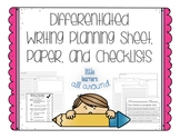No PREP Differentiated Writing Materials-Planing Guides, P