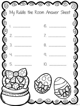Easter Riddle the Room Activity