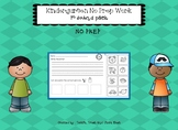 No PREP Kindergarten work- 1st sound