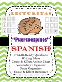 "No PREP Spanish Reading ""Puercoespines"" Completely STAAR Ready Cause/Effect"