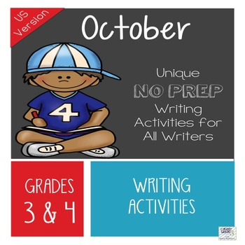 October NO PREP Unique Writing Activities - US Version