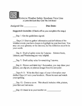 No PREP Weather Safety Brochure Project