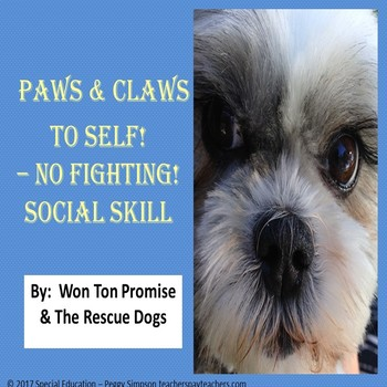 Hands & Feet To Self - No Fighting! Social Skill/Social Story