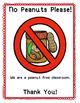 No Peanuts Sign