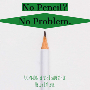 No Pencil? No Problem. Printable Poster