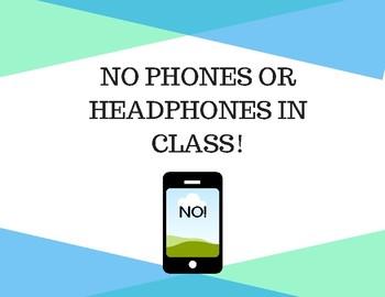 No Phones or Headphones! Poster