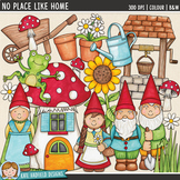 "Garden Gnome Clip Art: ""No Place Like Gnome"""