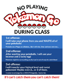 Pokemon Go Class Rules Satirical Poster
