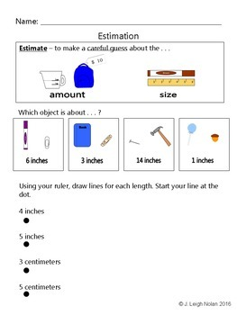 No Prep - 1st Grade Measurement BUNDLE