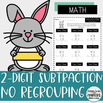 No Prep 2-Digit Subtraction: No Regrouping/Borrowing