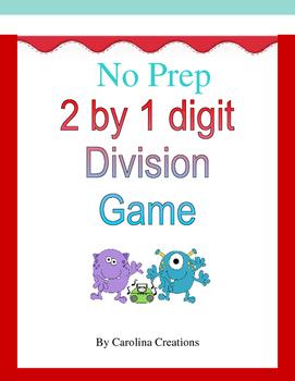 No Prep 2 Digit by 1 Digit Long Division Game - 4.NBT.6