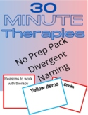 No Prep 30 Minute Therapies Divergent Naming Printable Worksheet