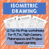 12 No-Prep 3D Isometric Drawing Printables for Elementary