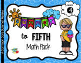No Prep 4th to 5th Grade Summer Math ONLY Pack