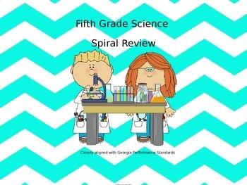 No Prep 5th Grade Science Spiral Review