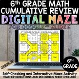 Digital Maze 6th Grade Math Cumulative Review Google Slide