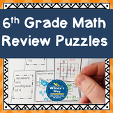 No Prep 6th Grade Math Review Puzzles
