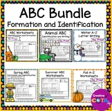No Prep ABC Worksheets Letter Identification and Formation Bundle