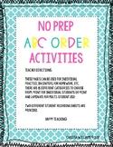 No Prep ABC Order Activities