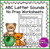 No Prep ABC Worksheets Circle the Beginning Letter Sounds