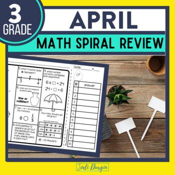 Third Grade Math Homework or 3rd Grade Morning Work for APRIL