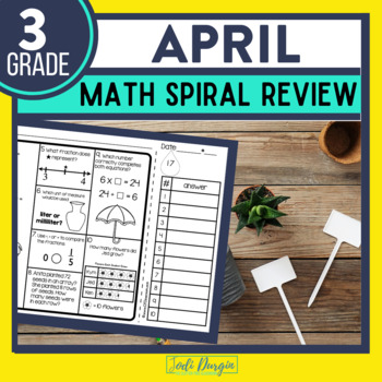 Third Grade Math Homework or 3rd Grade Morning Work for APRIL