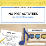 No Prep Activities for Elementary Music