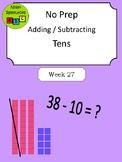 No Prep - Adding & Subtracting by Ten